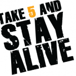 The Take 5 and Stay Alive Campaign logo