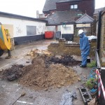 Our senior Asbestos Surveyor in London undertaking Asbestos in Soils Investigations